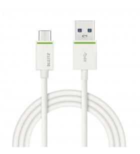 Leitz 63350001 cabluri USB 1 m 3.2 Gen 1 (3.1 Gen 1) USB A USB C Alb