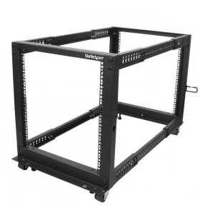 StarTech.com 4POSTRACK12U rack-uri 12U Raft de sine stătător Negru