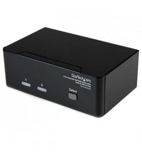 StarTech.com SV231DD2DUA switch-uri pentru tastatură, mouse și monitor (KVM) Negru