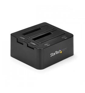 StarTech.com SDOCK2U33 stație docking driver stocare USB 3.2 Gen 1 (3.1 Gen 1) Type-B Negru