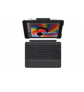 Logitech Slim Combo tastatură pentru terminale mobile QWERTZ Elvețiană Negru Bluetooth