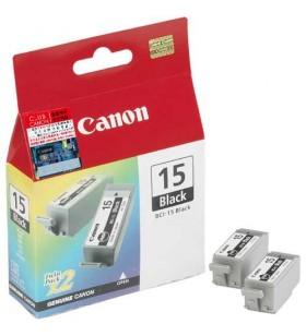Canon Cartridge BCI-15 Black Original Negru 2 buc.
