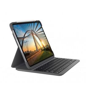 Logitech Slim Folio Pro tastatură pentru terminale mobile QWERTZ Germană Grafit Bluetooth