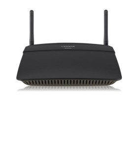 Linksys EA6100 router wireless Bandă dublă (2.4 GHz  5 GHz) Fast Ethernet Negru