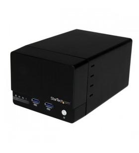 """StarTech.com S352BU33HR carcasă disc memorie 3.5"""" Carcasă HDD Negru"""