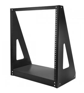 StarTech.com 2POSTRACK12 rack-uri 12U Raft de sine stătător Negru
