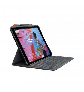 Logitech Slim Folio tastatură pentru terminale mobile AZERTY Franţuzesc Grafit Bluetooth