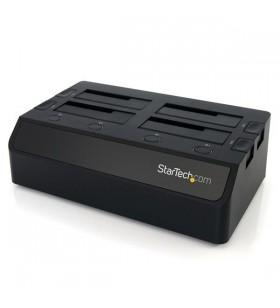 StarTech.com SDOCK4U33 stație docking driver stocare USB 3.2 Gen 1 (3.1 Gen 1) Type-B Negru