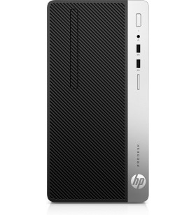 HP ProDesk 400 G6 Intel® Core™ i5 generația a 9a i5-9500 8 Giga Bites DDR4-SDRAM 256 Giga Bites SSD Micro Tower Negru PC-ul