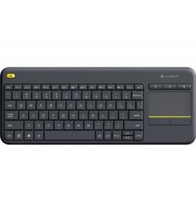Logitech K400 Plus tastaturi RF fără fir QWERTZ Maghiară Negru