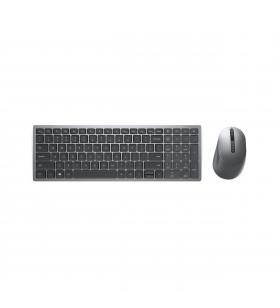DELL KM7120W tastaturi RF Wireless + Bluetooth QWERTY Germană Gri, Titan