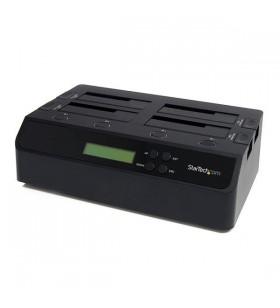 StarTech.com SATDOCK4U3RE dispozitive de copiere a discurilor optice Dispozitiv de copiere HDD 3 copii Negru