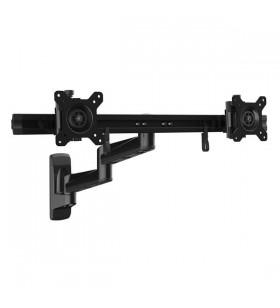 """StarTech.com ARMDUALWALL suporturi de perete pentru monitoare televizoare LCD 61 cm (24"""") Negru"""