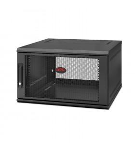 APC NetShelter WX 6U Single Hinged Wall-mount Enclosure 600mm Deep Raft montat pe perete Negru