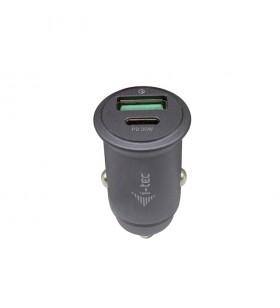 i-tec CHARGER-CARQCPD încărcătoare pentru dispozitive mobile Auto Gri