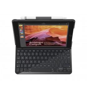 Logitech Slim Folio tastatură pentru terminale mobile QWERTZ Elvețiană Negru Bluetooth