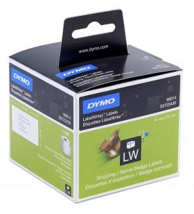 DYMO LW - Shipping   Name Badge Labels - 54 x 101 mm - S0722430 Alb Eticheta imprimantă auto-adezivă