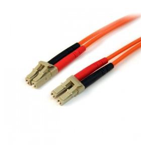 StarTech.com 50FIBLCLC1 cabluri din fibră optică 1 m OM2 LC Portocală