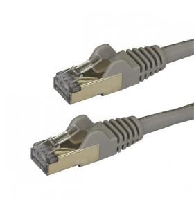 StarTech.com 6ASPAT1MGR cabluri de rețea 1 m Cat6a U FTP (STP) Gri