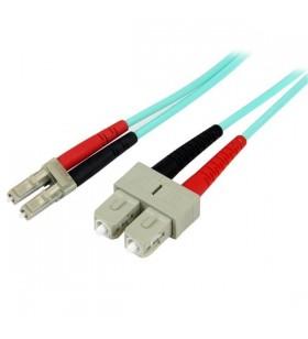 StarTech.com A50FBLCSC2 cabluri din fibră optică 2 m OM3 LC SC Turcoaz
