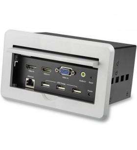 StarTech.com BOX4HDECP2 dispozitiv tip AV conferencing bridges 3840 x 2160 Pixel Ethernet LAN Argint