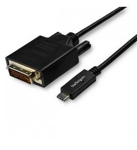 StarTech.com CDP2DVI3MBNL adaptor pentru cabluri video 3 m USB tip-C DVI-D Negru