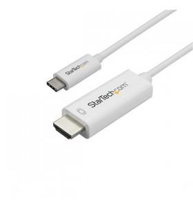 StarTech.com CDP2HD1MWNL adaptor pentru cabluri video 1 m USB tip-C HDMI Tip A (Standard) Alb