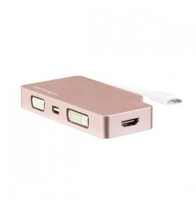 StarTech.com CDPVDHDMDPRG adaptor grafic USB 3840 x 2160 Pixel Roz Auriu