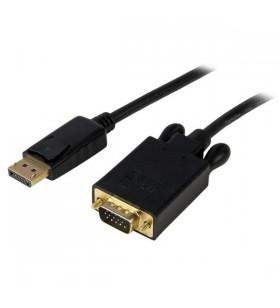 StarTech.com DP2VGAMM15B adaptor pentru cabluri video 4,6 m DisplayPort VGA (D-Sub) Negru