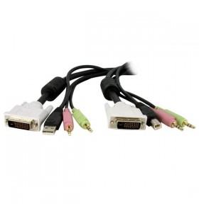 StarTech.com DVID4N1USB6 cabluri KVM 1,8 m Negru