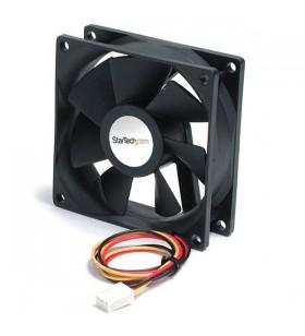 StarTech.com High Air Flow 9.25 cm Dual Ball Bearing Case Fan with TX3 Connector Carcasă calculator Negru