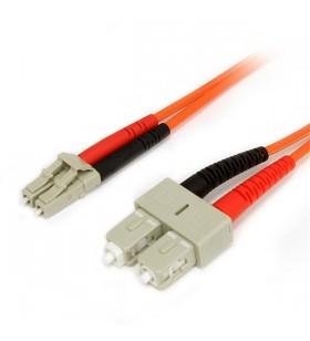StarTech.com FIBLCSC2 cabluri din fibră optică 2 m LC SC Portocală