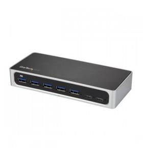StarTech.com HB30C5A2CSC hub-uri de interfață USB 3.2 Gen 1 (3.1 Gen 1) Type-B 5000 Mbit s Negru, Argint