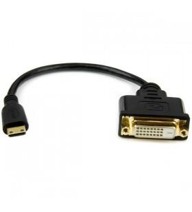 StarTech.com HDCDVIMF8IN adaptor pentru cabluri video 0,2 m Mini HDMI DVI-D Negru