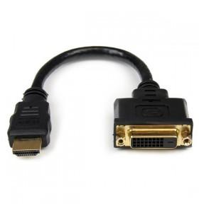 StarTech.com HDDVIMF8IN adaptor pentru cabluri video 0,2 m HDMI DVI-D Negru