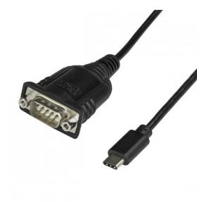 StarTech.com ICUSB232PROC cabluri prelungitoare cu mufe mamă tată USB C DB-9 Negru