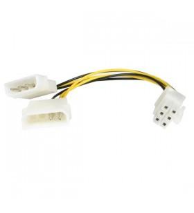 StarTech.com LP4PCIEXADAP cablu alimentare energie electrica intern 0,153 m