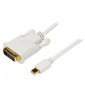StarTech.com MDP2DVIMM10W adaptor pentru cabluri video 3,05 m mini DisplayPort DVI-D Alb