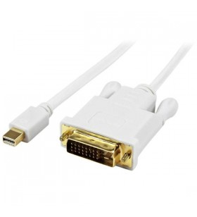 StarTech.com MDP2DVIMM3WS adaptor pentru cabluri video 0,9 m Mini DisplayPort DVI-D Alb