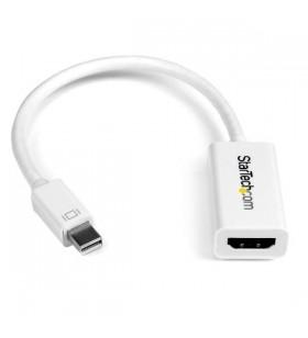 StarTech.com MDP2HD4KSW adaptor pentru cabluri video 0,15 m Mini DisplayPort HDMI Alb