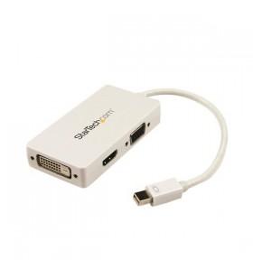 StarTech.com MDP2VGDVHDW adaptor pentru cabluri video 0,15 m Mini DisplayPort DVI-D + VGA (D-Sub) + HDMI Alb