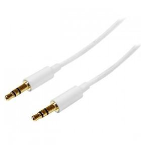 StarTech.com MU2MMMSWH cablu audio 2 m 3.5mm Alb