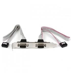 StarTech.com 2 IDC - 2 DB-9, F M 2 x DB-9 2 x IDC Argint, Alb