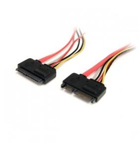 StarTech.com SATA22PEXT cabluri SATA 0,35 m SATA 22-pin SATA 7-pin + 15-pin Roşu