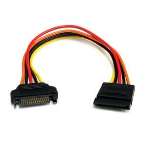 StarTech.com 15 pin SATA Power Extension Cable 0,2032 m