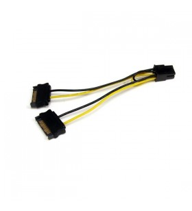 StarTech.com SATPCIEXADAP cablu alimentare energie electrica intern 0,15 m