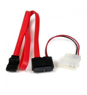 StarTech.com SLSATAF36 cabluri SATA 0,9144 m SATA 13-pin SATA 7-pin + Molex (4-pin) Roşu