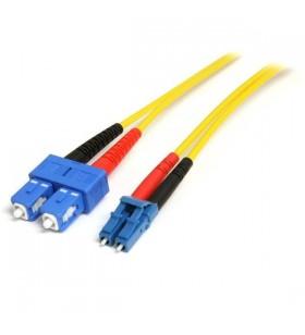 StarTech.com 10m LC-SC cabluri din fibră optică Galben