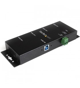 StarTech.com ST4300USBM hub-uri de interfață USB 3.2 Gen 1 (3.1 Gen 1) Type-B 5000 Mbit s Negru