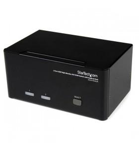 StarTech.com SV231TDVIUA switch-uri pentru tastatură, mouse și monitor (KVM) Negru